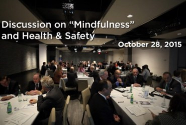 Mindfulness of Health & Safety in the Workplace